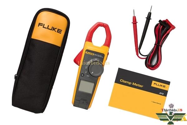 Ampe kìm Fluke 373 cung cấp bao gồm: bao đựng, hướng dẫn sử dụng, pin, dây đo