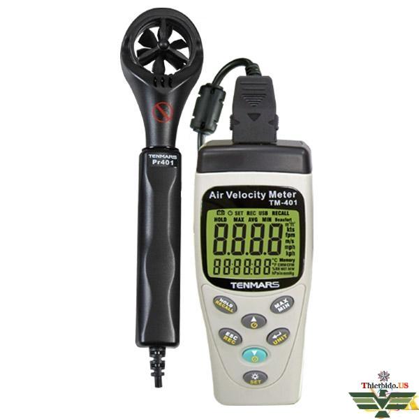 Máy đo tốc độ và lưu lượng gió Tenmars TM-401