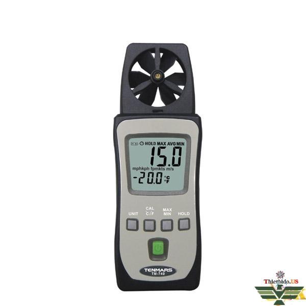 Máy đo tốc độ và lưu lượng gió Tenmars TM-740