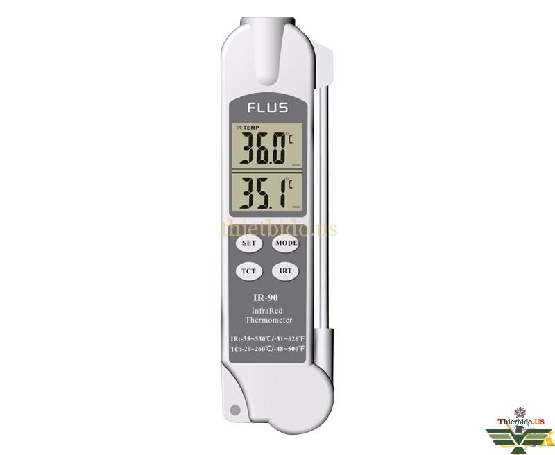 Máy đo nhiệt độ đa năng 2 trong 1 Flus IR-90