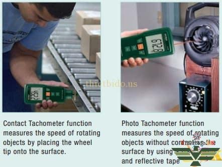 Extech 461880 kết hợp cả đo độ rung và tốc độ vòng quay Máy đo độ rung & tốc độ vòng quay Extech 461880