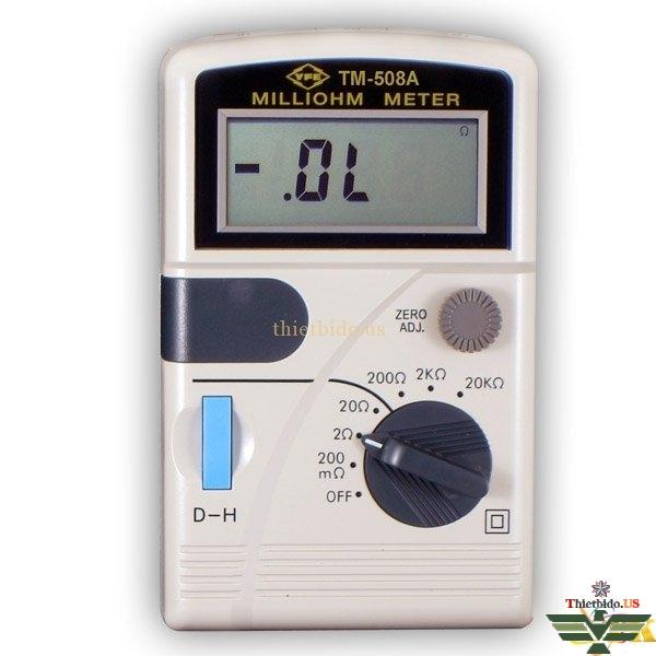 Đồng hồ đo điện trở thấp Milliohm Tenmars TM-508A