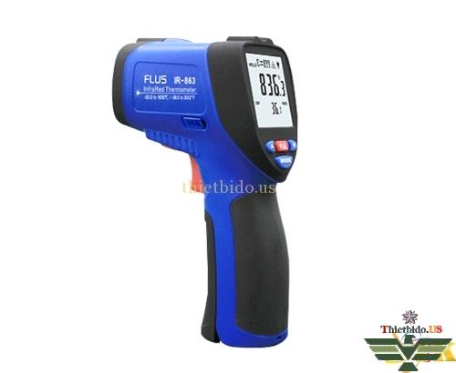 Máy đo nhiệt độ hồng ngoại Flus IR-863 (-50 ~ 1650°C/50:1)