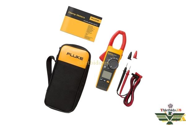 Ampe kìm Fluke 375 FC cung cấp bao gồm: hướng dẫn sử dụng, bao đựng máy, dây đo và pin