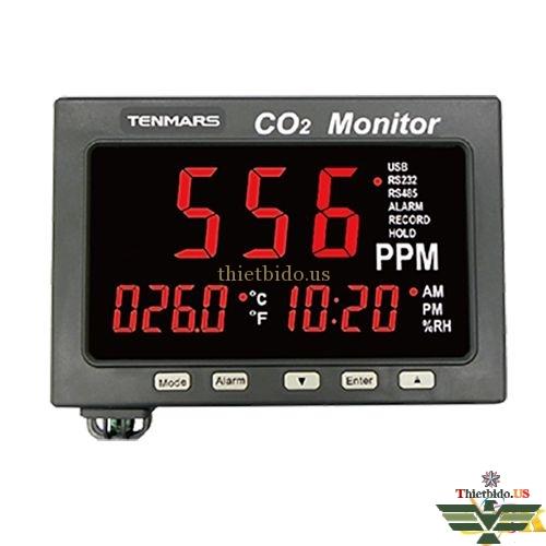 Đồng hồ đo khí CO2 Tenmars TM-187A (Nhiệt độ + Độ ẩm/Datalogger)