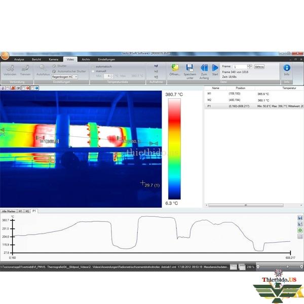 Phần mềm phân tích nhiệt kế hồng ngoại IRSoft